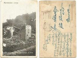 Etna Eruzione 1923 Lava Investe Casa Borgata Catena Viaggiata 1923 Senza Bollo - Catástrofes