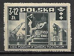 POLOGNE   -   1946.  Y&T N° 471 *. - Unused Stamps