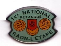 SP224 Pin's Boule Pétanque Vosges Raon L'Etape Achat Immédiat - Bowls - Pétanque