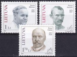 LITAUEN 2001 Mi-Nr. 753/55 ** MNH - Lithuania