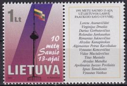 LITAUEN 2001 Mi-Nr. 750 ** MNH - Lituanie