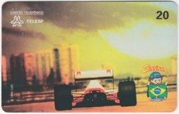 BRASIL J-687 Magnetic Telesp - Sport, Motor Race, Formula One, Ayrton Senna - Used - Brasilien