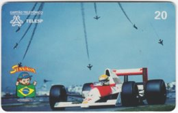 BRASIL J-688 Magnetic Telesp - Sport, Motor Race, Formula One, Ayrton Senna - Used - Brasilien