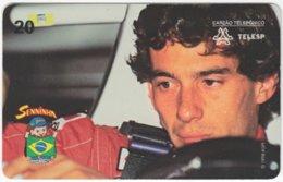 BRASIL J-689 Magnetic Telesp - Sport, Motor Race, Formula One, Ayrton Senna - Used - Brasilien
