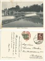 Imola BO Fiume Santerno Cart.b/n 30ott1946 X Bologna Tassata L.2 Il 31ott - Imola