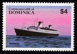 Dominica 1984 / Shipping, Passenger Ship Norway/ MNH, Michel 859 - Ships