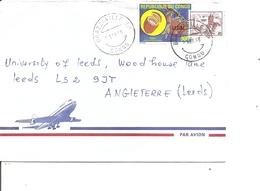Congo Brazzaville ( Lettre Par Avion De 1998 De Brazzaville Vers La Grande-Bretagne à Voir) - Oblitérés