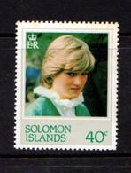 BRITISH  SOLOMON  ISLANDS    1982    40c  Lady  Diana  Spencer    MNH - Islas Salomón (...-1978)