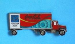1 PIN'S //  ** CAMION / COCA'COLA / JO ATHENS 2004 ** . (© 2004 The Coca-Cola CO. ™© Athoc Aminco®) - Coca-Cola