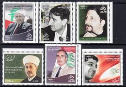 2010 Lebanon Political & Religious Leaders Complete Set Of 6 MNH - Libanon
