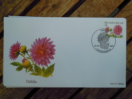 OCB Nr 3712 Buzin  Dahlia     Flora Flower Bloem   ( Class Gris Box ) Stempel Estampius - FDC