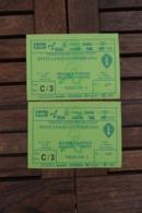 Rode Duivels 2 Tickets 1993 Belgie - Faroer - Apparel, Souvenirs & Other