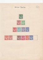 France    .    10 Pages  Avec Timbres       .   *     .    Neuf Avec Gomme  .   /  .  Mint-hinged - France
