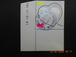 FRANCE 2016   YTN°5025    ST VALENTIN. COEUR DE COURREGES     DATE   Timbre. Neuf Oblitéré   Cachet Rond - Used Stamps