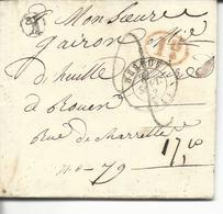 LAC 74 Elbeuf >> Rouen FFFM 2  I Décime Rouge Boite Rurale K Vraiville (eure) - 1849-1876: Période Classique