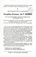 Kasterlee, 1960, Josephus De L'Arbre - Images Religieuses