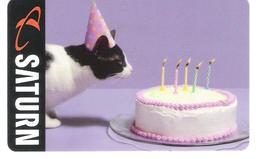 Germany - Allemagne - Saturn - Cat - Katze -  Carte Cadeau - Carta Regalo - Gift Card - Geschenkkarte - Gift Cards