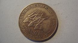 MONNAIE ETATS DE L'AFRIQUE CENTRALE 25 FRANCS 1991 - Monedas
