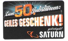 Germany - Allemagne - Saturn - 50 Years - Carte Cadeau - Carta Regalo - Gift Card - Geschenkkarte - Gift Cards