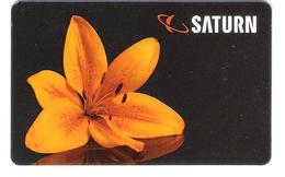 Germany - Allemagne - Saturn - Flower - Blume - Carte Cadeau - Carta Regalo - Gift Card - Geschenkkarte - Gift Cards