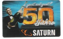 Germany - Saturn - 50 Years Saturn - 3D Card - Carte Cadeau - Carta Regalo - Gift Card - Geschenkkarte - Gift Cards