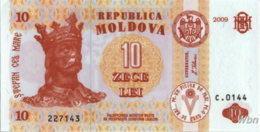 Moldavie 10 Lei (P10) 2009 -UNC- - Moldavie