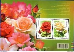 Canada 2014 Flower Roses Souvenir Sheet (#2727) MNH ! - Neufs