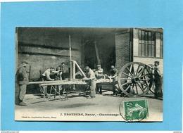 Nancy-J KRONBERG -charronnage- Gros Plan Animé  -a Voyagé En 1910-édition Imp Réunies - Nancy