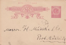 South Austrlia Postcard 1899 - Unclassified