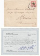 AD Heligoland Brief 1888 Mit Attest - Heligoland