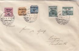Deutsches Reich Sudetenland Wir Sind Frei Brief 1939 Niedereinsiedel - Usati
