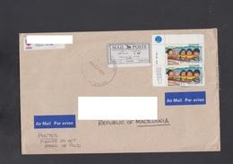 CANADA, COVER, MAIL POST, REPUBLIC OF MACEDONIA ** - 1952-.... Règne D'Elizabeth II