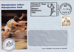 Germany 1984 Cover: Ice Hockey Sur Glace Eishockey; Olympic Games Sarajevo / Los Agneles ; Hurdler; Torch Bearer Slogan - Winter 1984: Sarajevo