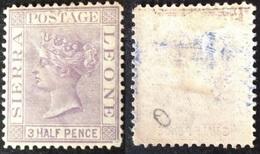 Sierra Leone 1876 Queen Victoria 1 1/2d Lilac Mi.9 MH AM.573 - Sierra Leone (1961-...)