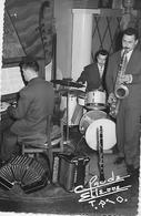 MONTPELLIER ORCHESTRE Claude Etienne Trio Photo Format Carte Accordeon Batterie Saxo Piano - Music And Musicians