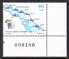 2011 Albania States Of Adriatic & Ionian Seas Map  Complete Set Of 1 MNH - Albania