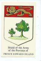 Postcard  Heraldry Prince Edward Island Shield And Arms Unused - Ile Du Prince-Édouard