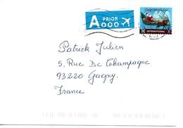 BELGIQUE 2010 Père Noel Texte En Noir Sens De Gauche à Droite Sur Enveloppe Voyagée 20.12.2010 - Belgique