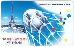 SOUTH KOREA B-455 Magnetic Telecom - Event, Sport, Soccer, Landscape, Eiffel Tower - Used - Korea, South