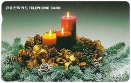 SOUTH KOREA B-496 Magnetic Telecom - Occasion, Christmas - Used - Korea (Zuid)