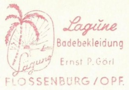 EMA METER STAMP FREISTEMPEL LAGUNE PALM 1964 SUNSET TROPICAL LANDSCAPE - Vegetables