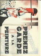 """Affichette - """" Prenez Garde à La Peinture """" - Illustrateur Grlich - 32 Cm X 24 Cm -  Galant Au Bouquet  - Réf.41 - Affiches"""