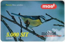 SLOVENIA B-406 Prepaid Mobi - Animal, Bird, Blue Tit - Used - Slovenië
