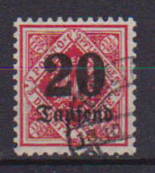 GERMANIA ANTICHI STATI WURTTEMBERG 1923 SERVIZIO CIFRA AL CENTRO SOPRASTAMPATI UNIF.166  USATO VF - Wurtemberg