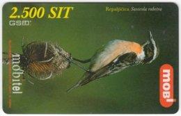 SLOVENIA B-450 Prepaid Mobi - Animal, Bird, Winchat - Used - Slovenia