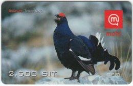 SLOVENIA B-456 Prepaid Mobi - Animal, Bird, Black Grouse - Used - Slovenia