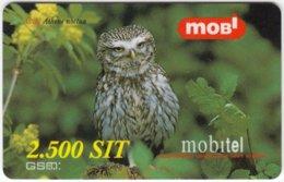 SLOVENIA B-468 Prepaid Mobi - Animal, Bird, Little Owl - Used - Slovénie