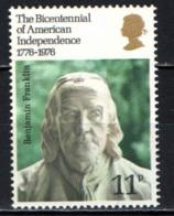 GRAN BRETAGNA - 1976 - American Bicentennial - Benjamin Franklin - MNH - Nuevos