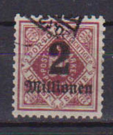 GERMANIA ANTICHI STATI WURTTEMBERG 1923 SERVIZIO CIFRA AL CENTRO SOPRASTAMPATI UNIF.172  USATO VF - Wurtemberg