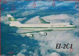 QSL Card Amateur Radio CB 1976 Irish Airlines Aer Lingus Boeing 747 Dublin Aviation Airplane Ireland - Radio Amateur